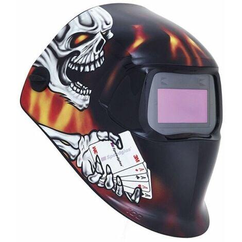 Masque de soudage speedglass 100v graphique blaze teinte variable 8-12 13844