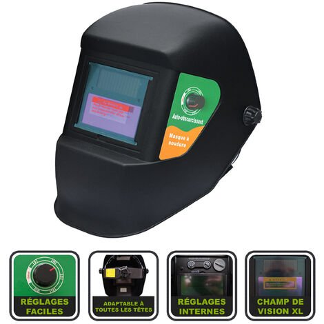 Masque de soudure automatique 9-13 Silex® - Noir