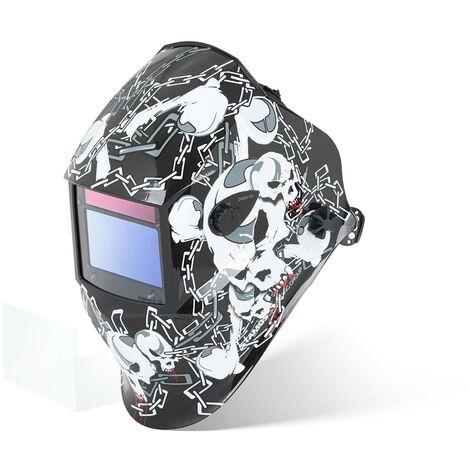 Masque De Soudure Automatique Solaire Casque DIN 9-13 Tous Procédés BLACK SKULL
