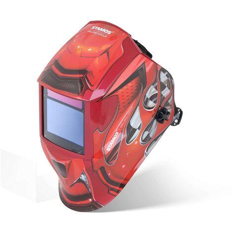 Masque De Soudure Automatique Solaire Casque DIN4-8 &9-13 Tous Procédés RED RACE