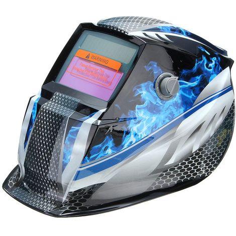 Masque de soudure cagoule casque soudage solaire automatique Bleu