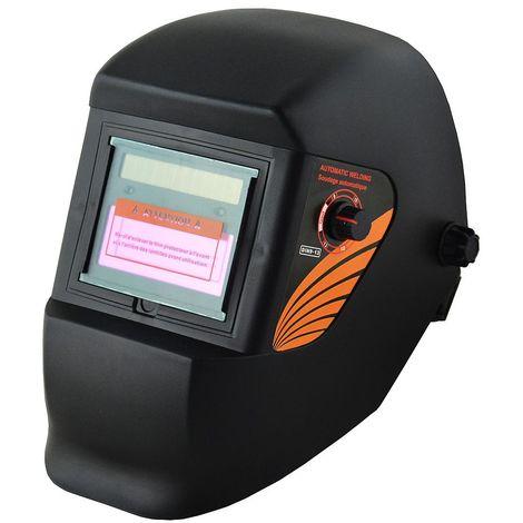 Masque de Soudure Réglable, Masque avec Assombrissement Automatique, Noir, Matériau: PCB, Plastique (PP, PE)