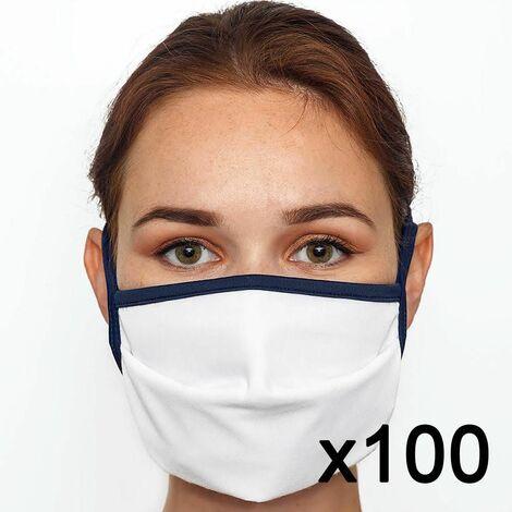 Masque en tissu lavable 60 fois certifié UNS1 Fabriqué en France x100