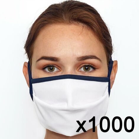 Masque en tissu lavable 60 fois certifié UNS1 Fabriqué en France x1000