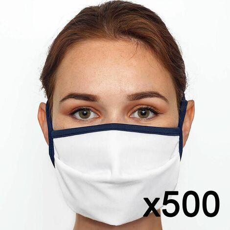 Masque en tissu lavable 60 fois certifié UNS1 Fabriqué en France x500