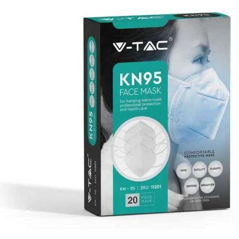 Masque FFP2 dpi V-TAC certifié CE KN95 pack 20 pièces