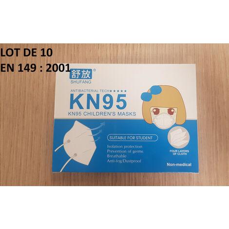 MASQUE FFP2 KN95 ENFANT - Lot de 10 - MEDICA GUARD