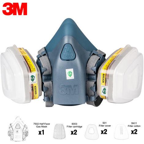Masque ¨¤ gaz 3M avec diff¨¦rentes bo?tes de filtre