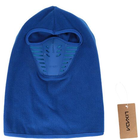 Masque Integral En Polaire D'Hiver, Masque De Ski Anti-Poussiere Et Coupe-Vent, Bleu