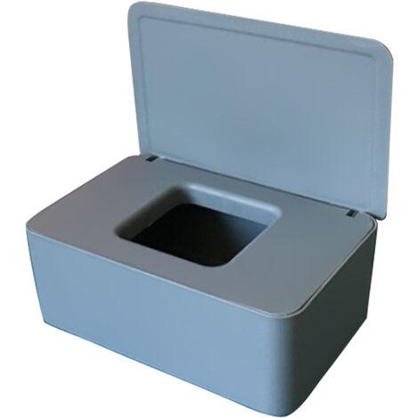 Masque Jetable Boite De Rangement Anti-Poussiere Masque Flip Cover Box Humide Cas De Tissu Avec Couvercle Portable, Gris