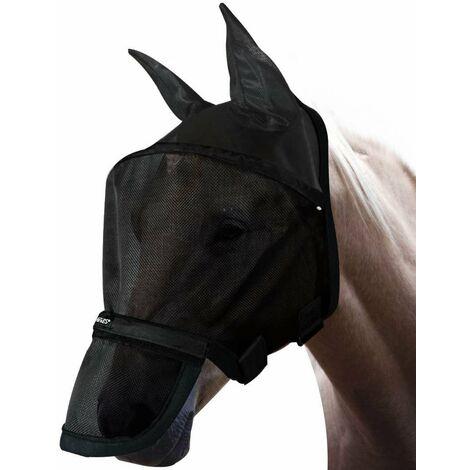Masque pour chevaux anti-mosque avec cache-nez amovible modèle Big Mask Horses