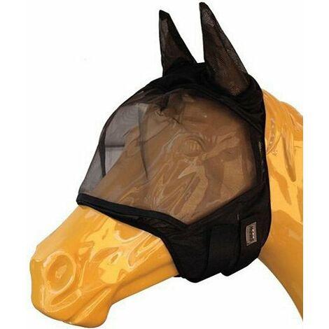 Masque pour chevaux anti-mosque en nylon modèle Soft Pro Mask Horses