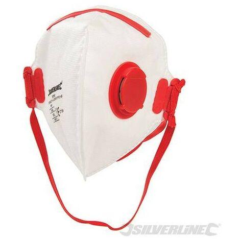 Masque respiratoire pliable à valve FFP3 NR, FFP3 NR, à l'unité