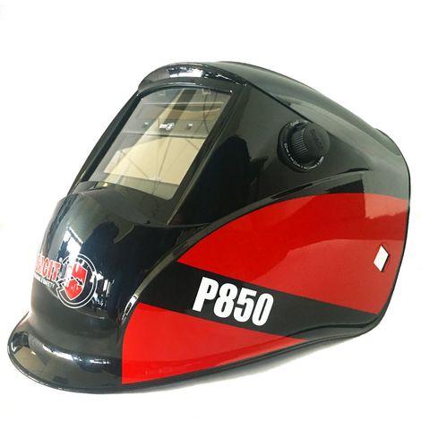 Masque soudure SACIT P850 conçue pour soudages MMA, MIG/MAG et TIG. Filtre 110x90 mm