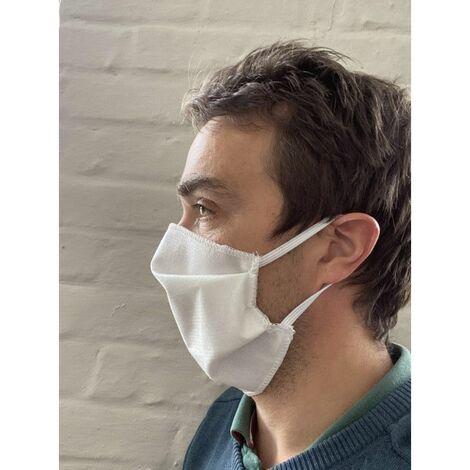 Masque tissu à plis à élastiques UNS1 lavable 10 fois - Universel