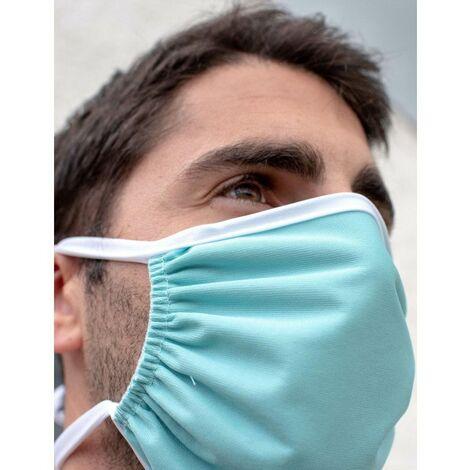 Masque tissu lavable à nouer anti-projections - Universel