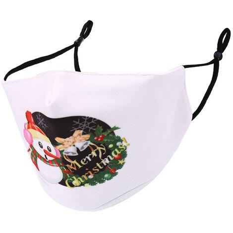 Masques Anti-Poussiere Unisexe Timbre De Noel, Le Style 1