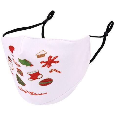 Masques Anti-Poussiere Unisexe Timbre De Noel, Le Style 8