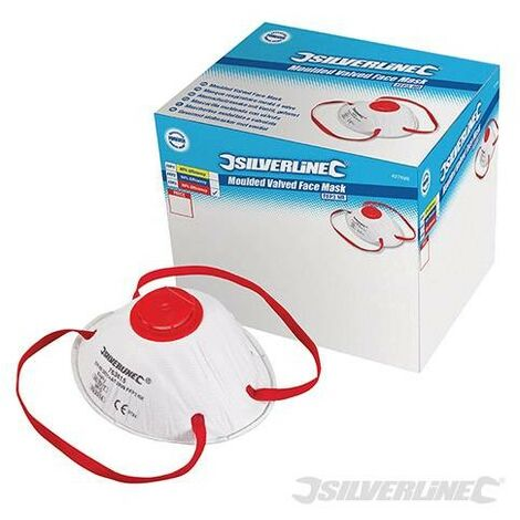 Masques respiratoires moulés à valve FFP3 NR, présentoir 0 pcs