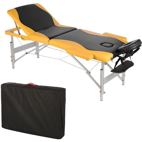 massage couch massage table aluminium massage bench 3 zones foldable mobile couch