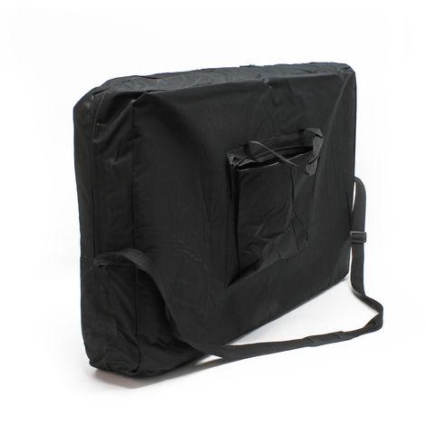 2-Zonen Massageliege schwarz klappbar mit Armauflage höhenverstellbare Kosmetikliege - 61176