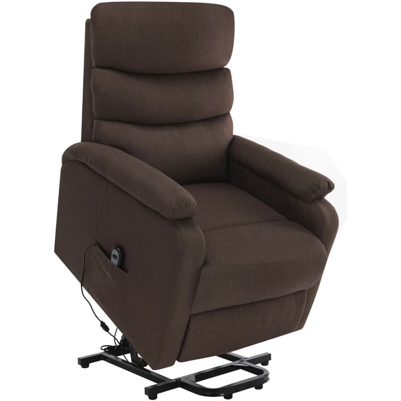 Massagesessel mit Aufstehhilfe Braun Stoff - VIDAXL