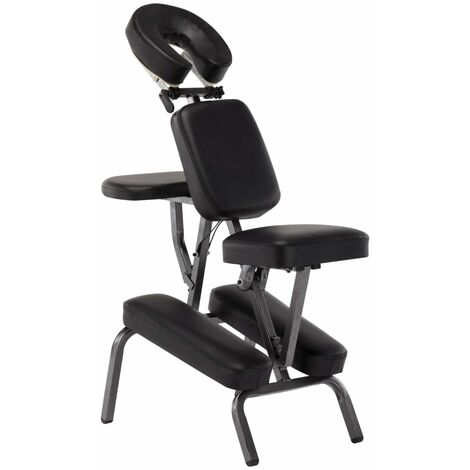 Massagestuhl Kunstleder Schwarz 122×81×48 cm