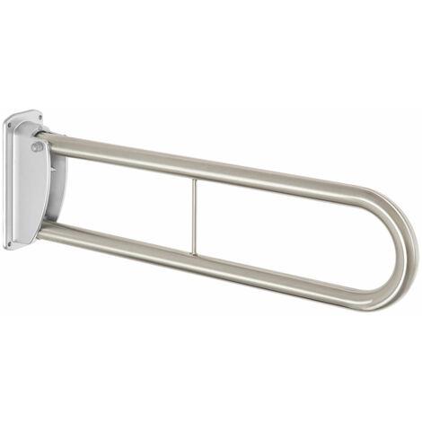 Massiver 76cm Edelstahl WC & Waschbecken Klappgriff Aufstehhilfe Sicherheitsgriff Handlauf klappbarer Stützgriff - Edelstahlgriff