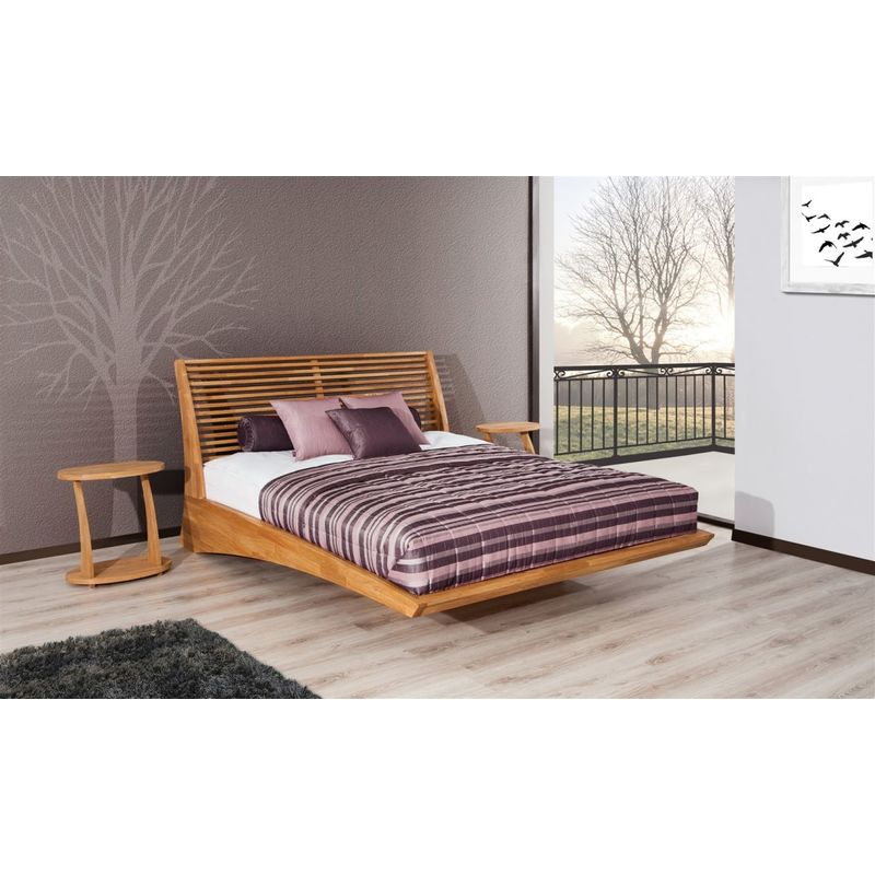 Massivholzbett Bett Schlafzimmerbett FRESNO Eiche massiv 160x200 cm - FUN MOEBEL