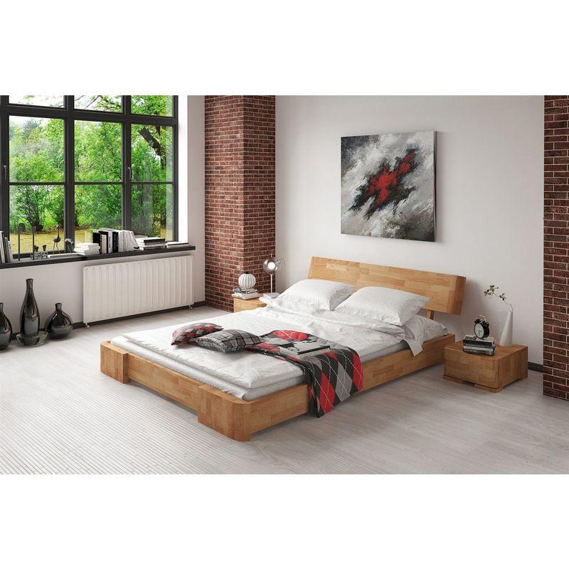 Massivholzbett Bett Schlafzimmerbett MESA Eiche massiv 160x200 cm - FUN MOEBEL