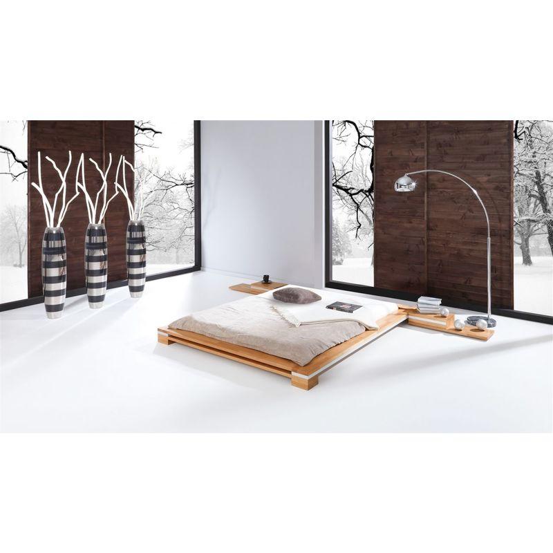 Massivholzbett Bett Schlafzimmerbett TOKYO Buche massiv 140x200 cm - FUN MOEBEL