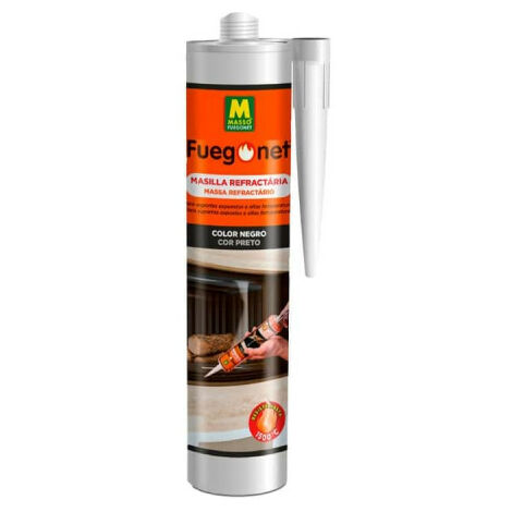 MASSÓ |Mastic noir réfractaire 300 ml.fuegonet