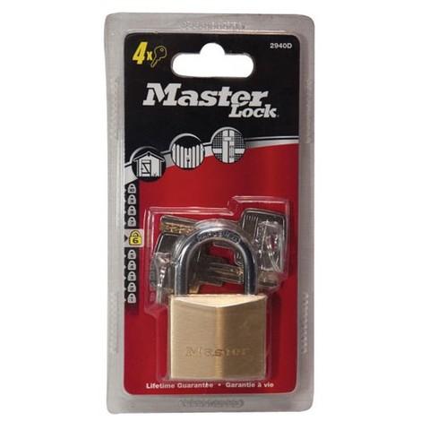 MASTER LOCK - Cadenas laiton - 40 mm - anse acier 22 mm