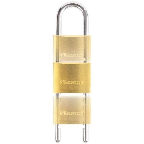 Master Lock Candado con grillete ajustable latón macizo 50 mm 1950EURD