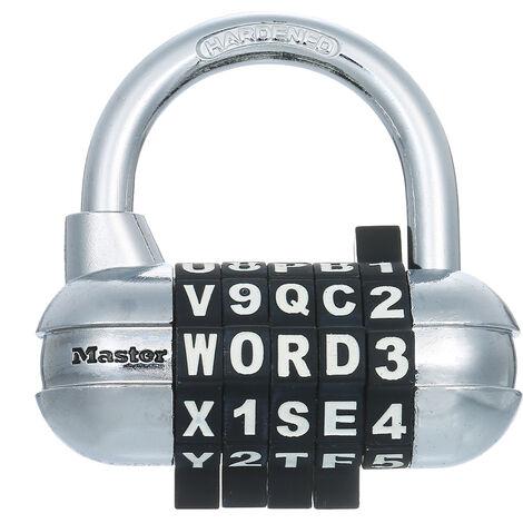 Master Lock Combinaison Password Locker Cadenas Gym Verrouillage Valise Dortoir Coffre Bagages Douanes Petit Padlock Noir 1534D
