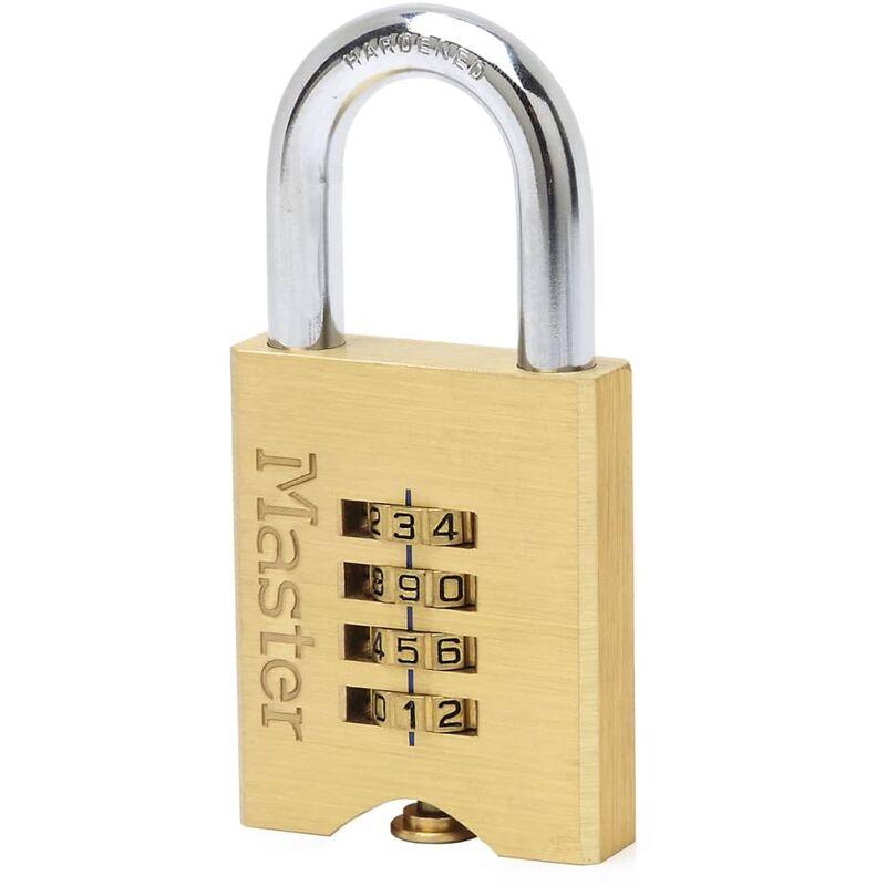Image of Masterlockeuropesas - Master Lock Combination Padlock Solid Brass 50 mm 651EURD - Yellow
