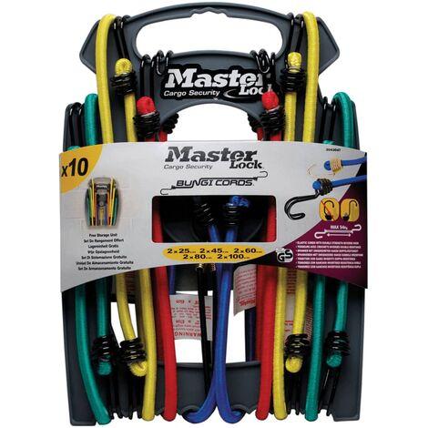 Master Lock Set de cuerdas elásticas Twin Wire 10 piezas 3043EURDAT