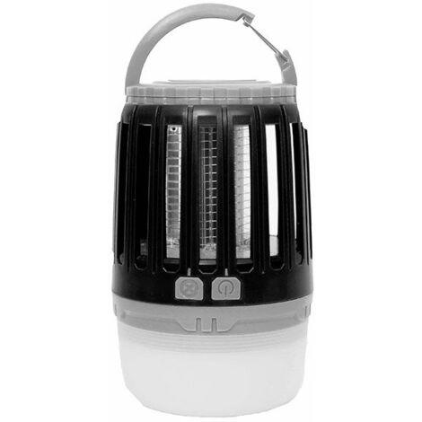 Master Trap - Travel Lamp - Lampe Anti-moustique d'extérieur et d'intérieur - Piège à moustiques - Noir - Lanterne LED - Protège jusqu'à 25 m2