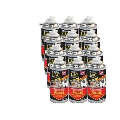 MASTERLAC FOGGER, insecticida nebulizador contra Garrapatas, Chinches y Pulgas e insectos voladores - Caja Completa 12 x 150ml
