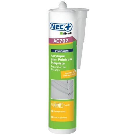 Mastic acrylique AC 702 310ml Blanc Nec +