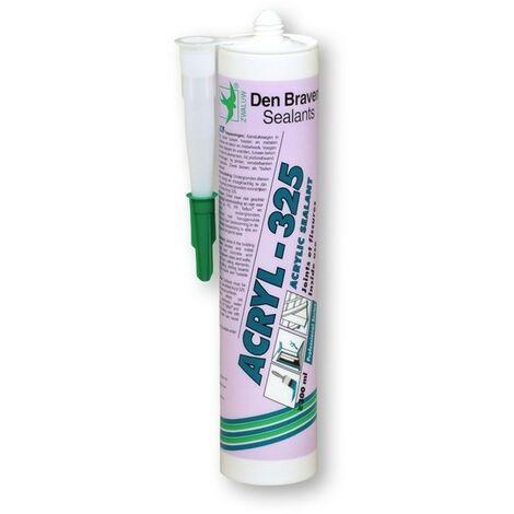 Mastic acrylique Acryl 325 chêne cartouche 300ml Den Braven