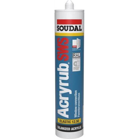 Mastic acrylique Acryrub SWS 300ml SOUDAL (Par 15)
