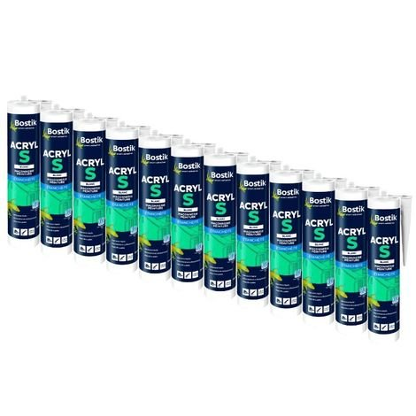 Mastic Acrylique BOSTIK Acryl S 310 ml (Carton lot de 12)