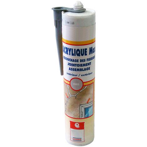 MASTIC ACRYLIQUE MAX HAUTE PERFORMANCE - Mastic acrylique Joint d étanchéité SNJF 1ère catégorie reprise de fissure maçonnerie menuiserie