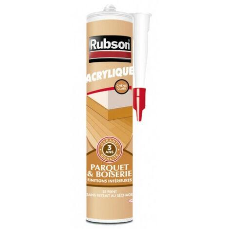 Mastic acrylique parquet et boiserie intérieur 280ml RUBSON - Ton: Gris clair