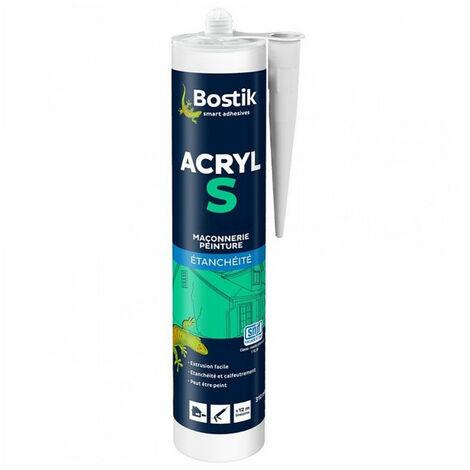 Mastic acrylique peinture maçonnerie SNJF ACRYL S (différents coloris) BOSTIK - plusieurs modèles disponibles