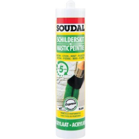 Mastic acrylique Soudal 'Express' Blanc 300 ml