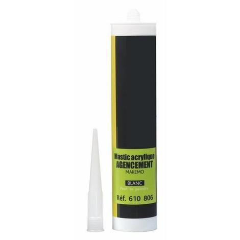 Mastic agencement acrylique Makemo P-Pro blanc - 24 cartouches de 300ml