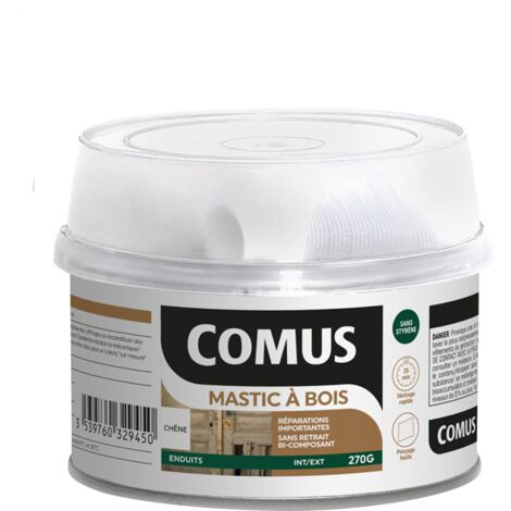 MASTIC BOIS (B+D) CHENE 270 GR - COMUS - chêne