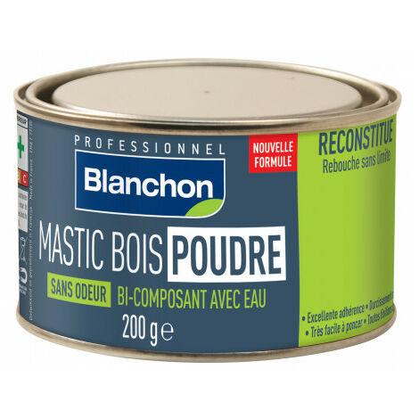 Mastic bois poudre - Blanc - 200 g